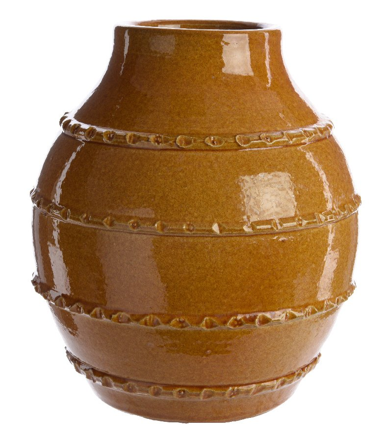 Terracotta Glazed Planter 23cm