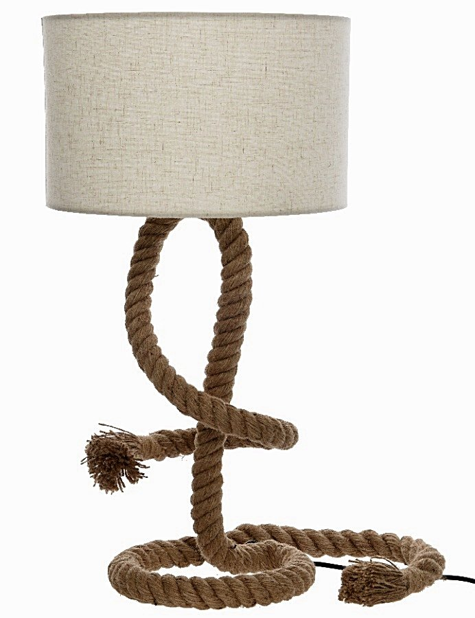 Rope Lamp with Lampshade