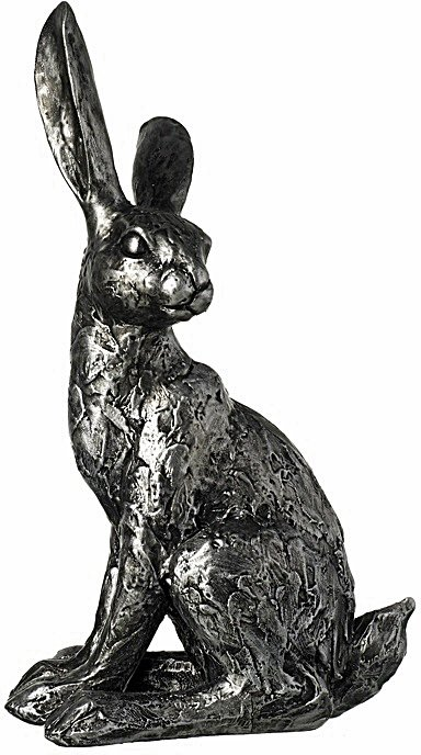 Rustic Resin Hare Ornament 25cm