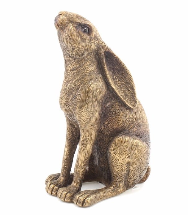 Bronzed Hare Ornament