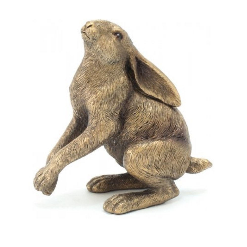Bronzed Reflections Gazing Hare 12cm