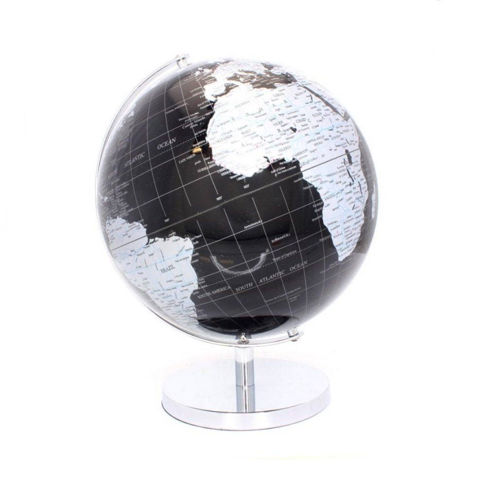 Large Globe on Metal Base