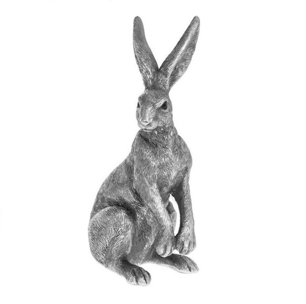 Reflections Silver Posed Hare 18cm