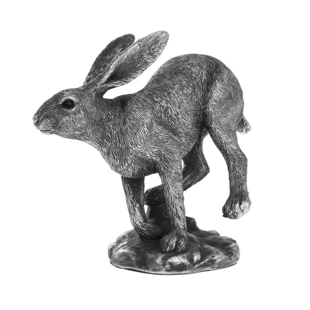 Reflections Silver Running Hare 15cm