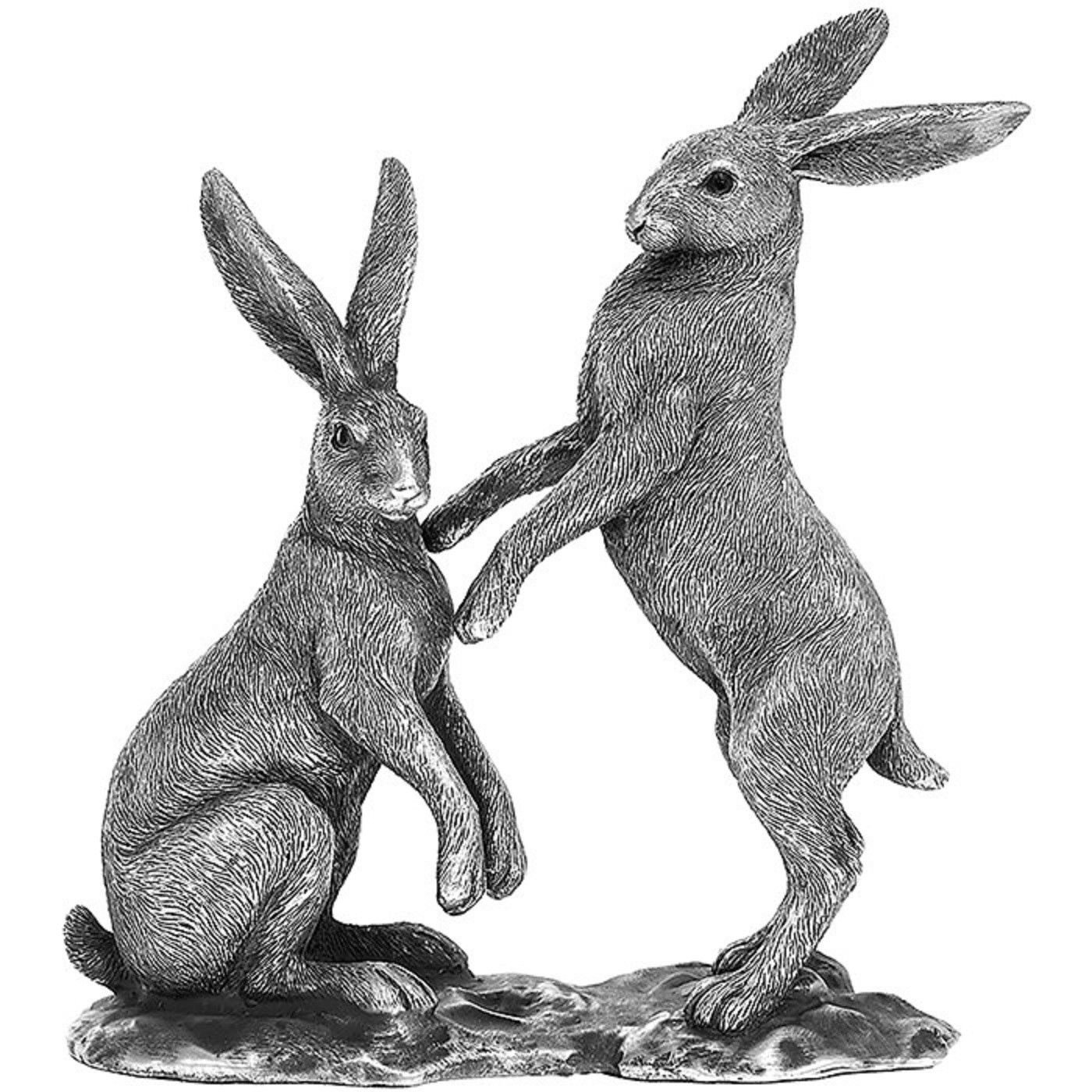 Reflections Silver Twin Hares 27cm