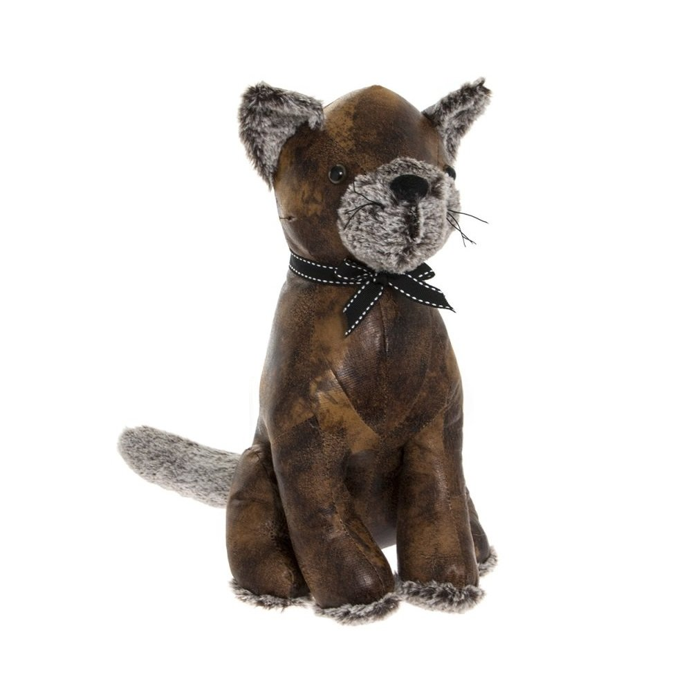 Faux Leather Cat Doorstop