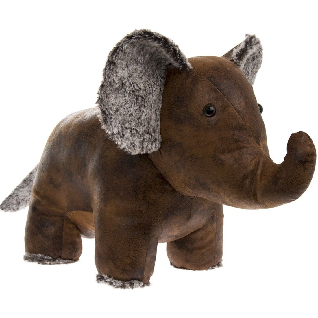 Faux Leather Elephant Doorstop