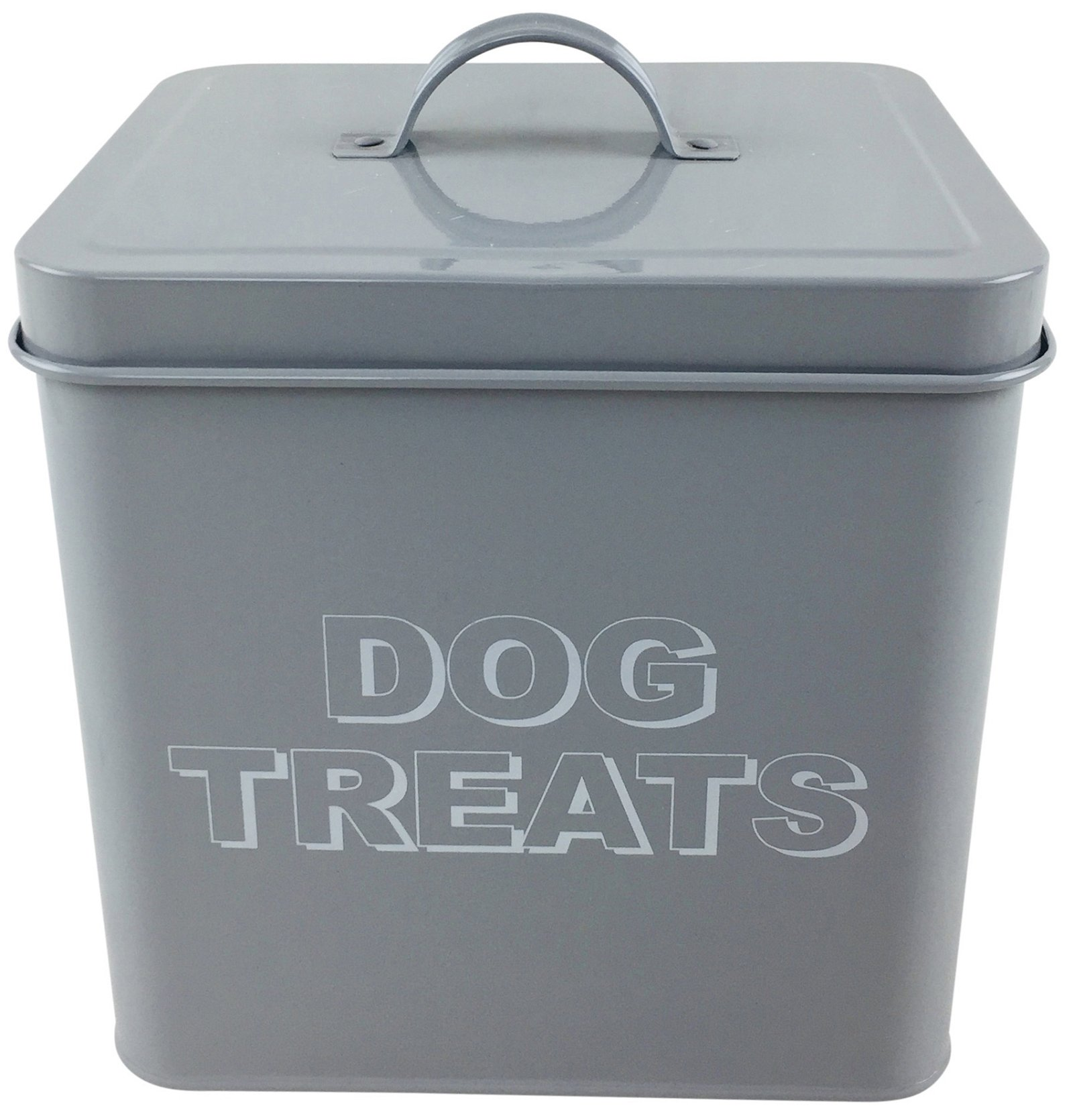 Metal Dog Treats Storage Tin 21cm