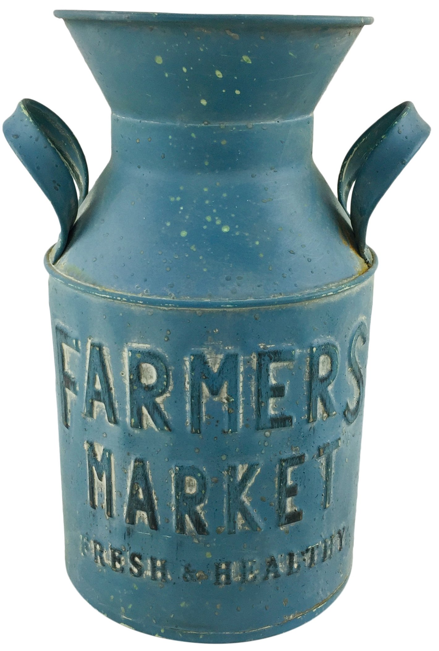 Blue Galvanised Metal Farmers Milk Churn 26cm