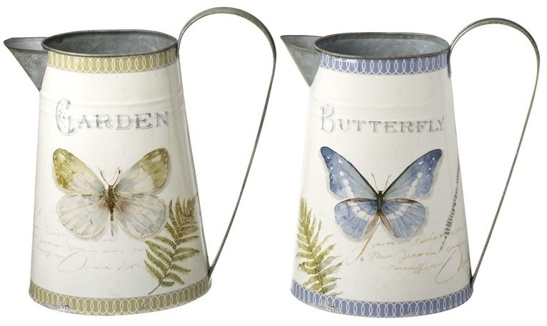 Set of 2 Butterfly Jugs