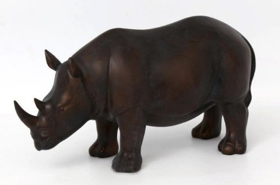 Bronzed Rhino Ornament