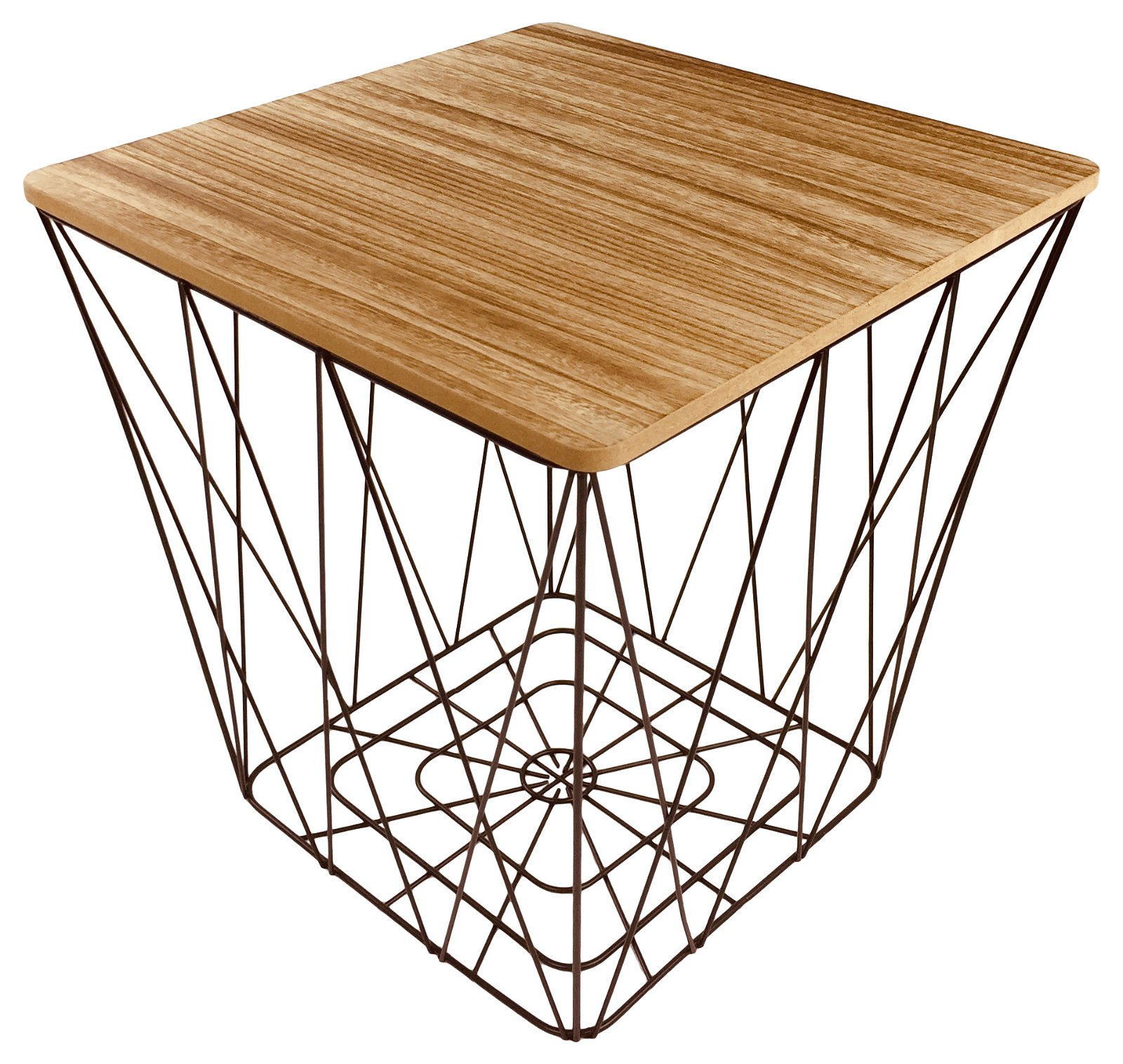Geometric Black Wire Square Side Table