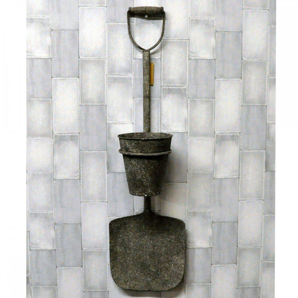Garden Rusty Metal Spade With Pot
