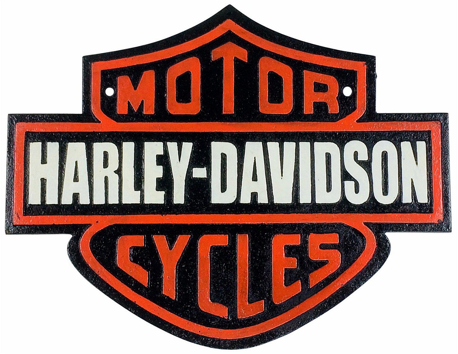 Metal Harley Davidson Sign 34cm