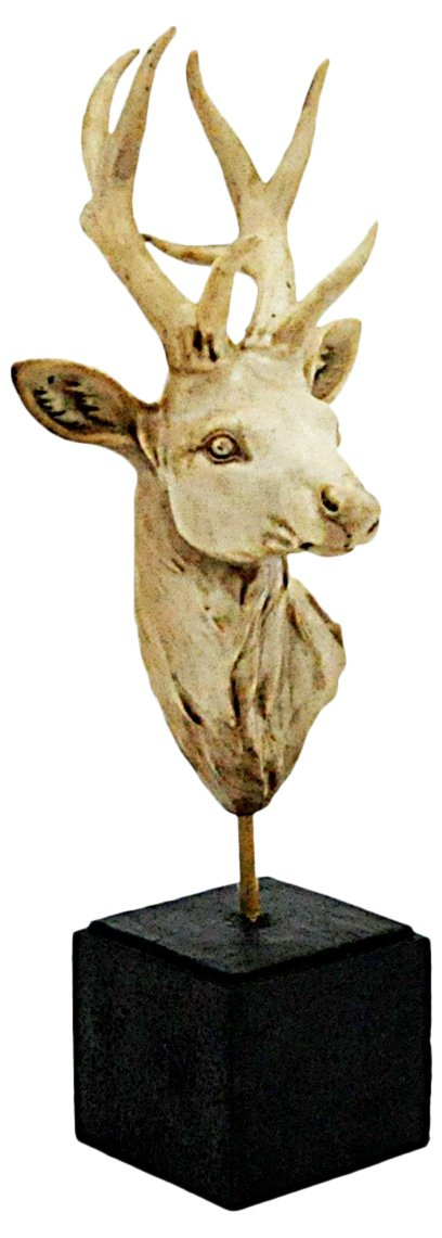 Antique White Deer On Stand