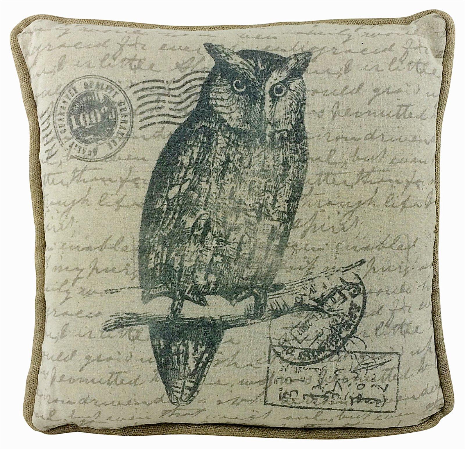Owl Design Cushion 42cm
