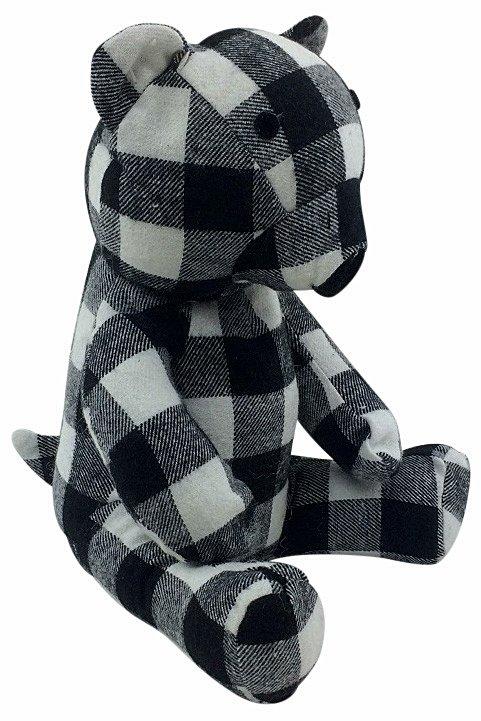 Fabric Teddy Bear Doorstop 30cm