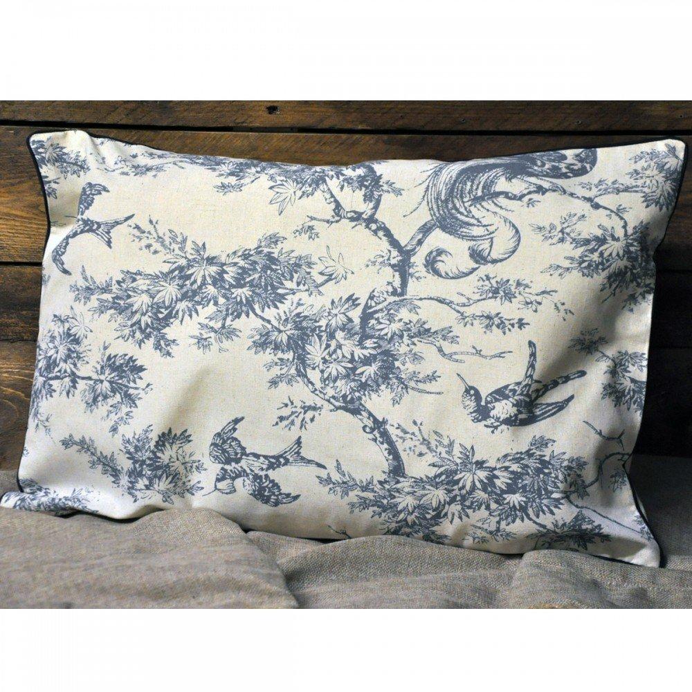 Blue Bird Design Cushion 40 x 60cm