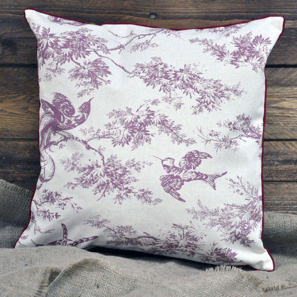 Red Bird Design Cushion 45cm