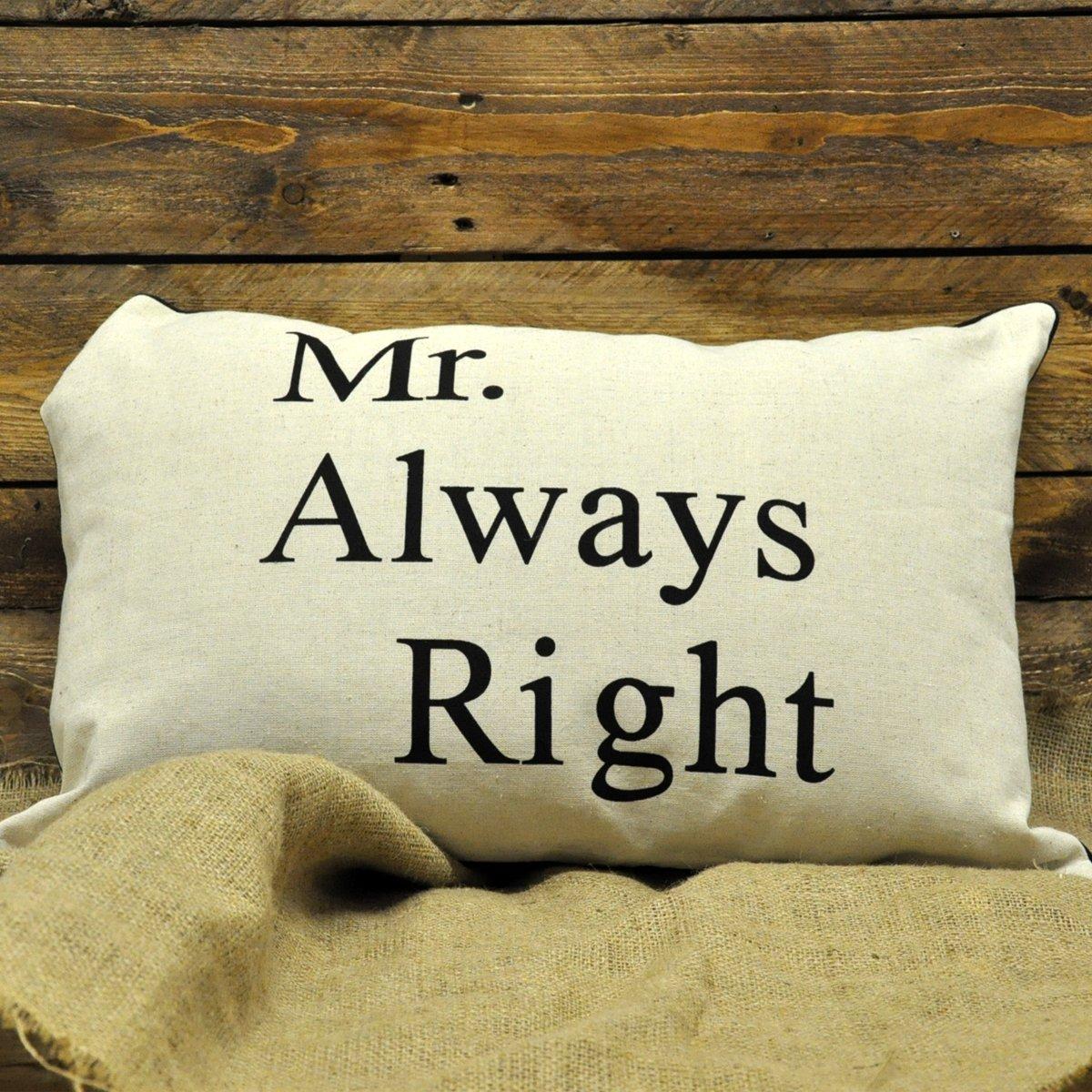 Mr Always Right Cushion 39cm x 60cm