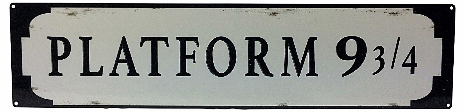 Metal Street Sign PLATFORM 9 3/4 70cm x 17cm