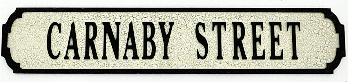 Carnaby Street Sign 80cmx15cmx1.5cm
