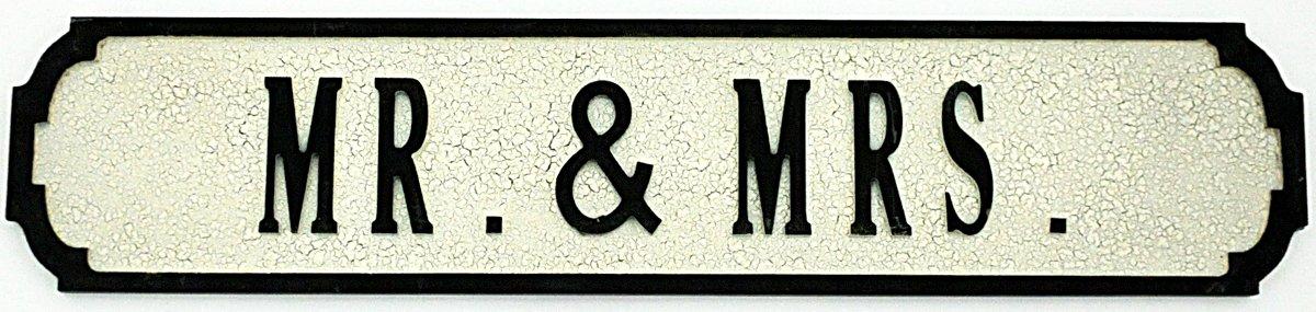 Mr. & Mrs. Street Sign 80cmx15cmx1.5cm