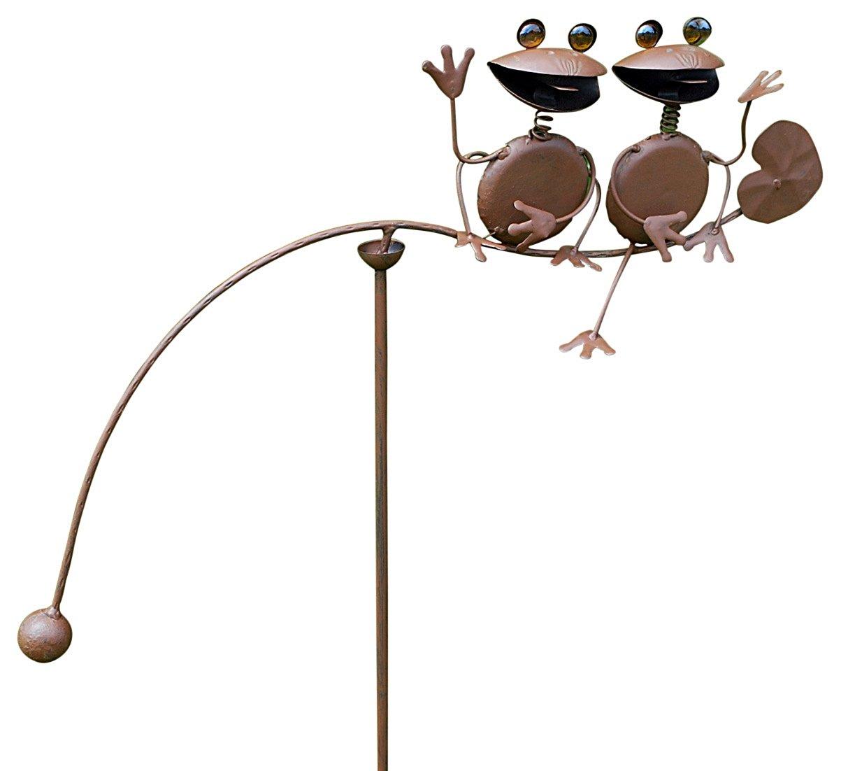 """Double Frog Garden Spinner 50"""""""