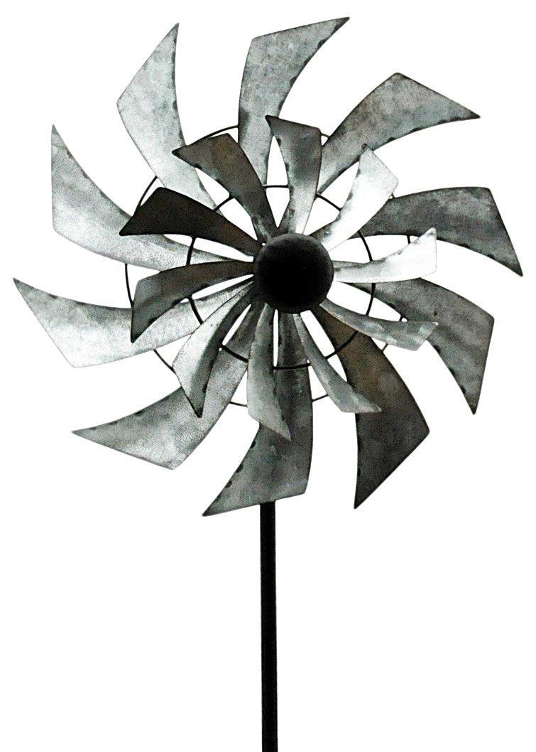 "Double Windmill Garden Spinner 59"""