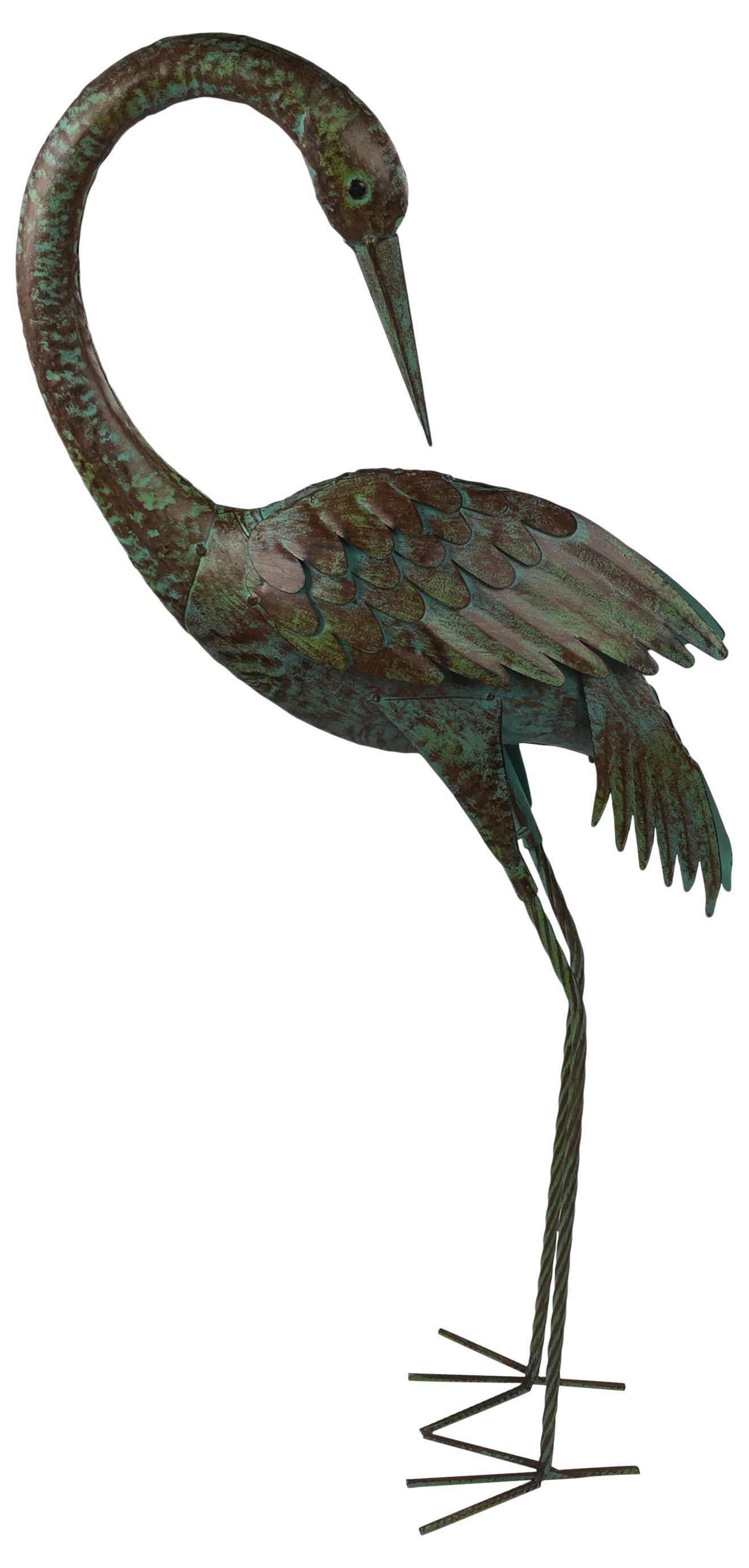Metal Crane Garden Ornament 91cm