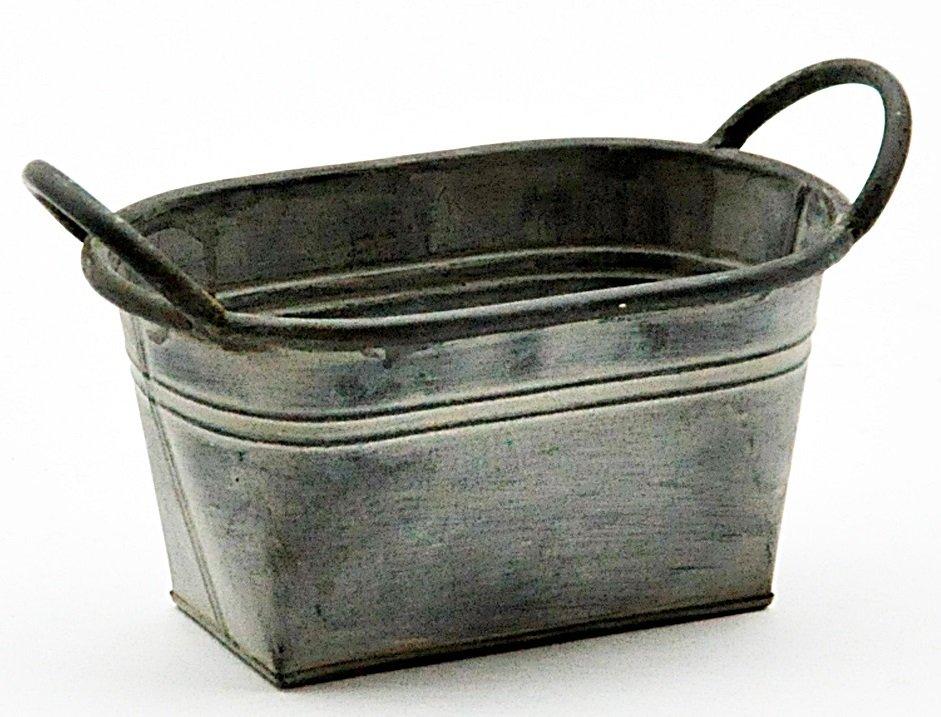 Galvanised Metal Planter 23cm