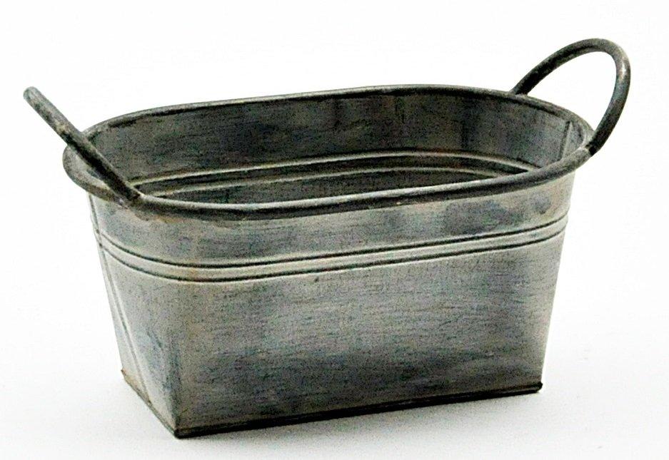 Galvanised Metal Planter 27.5cm