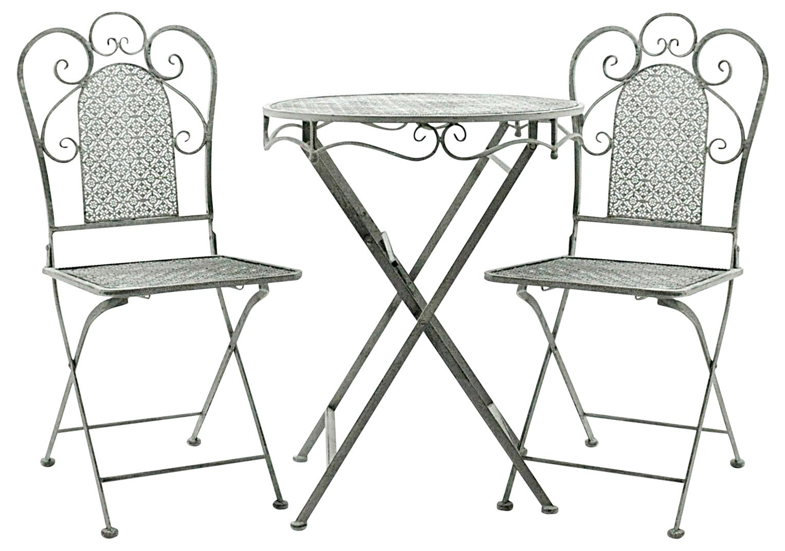 Lead Colour Round Table & 2 Chairs 74cm