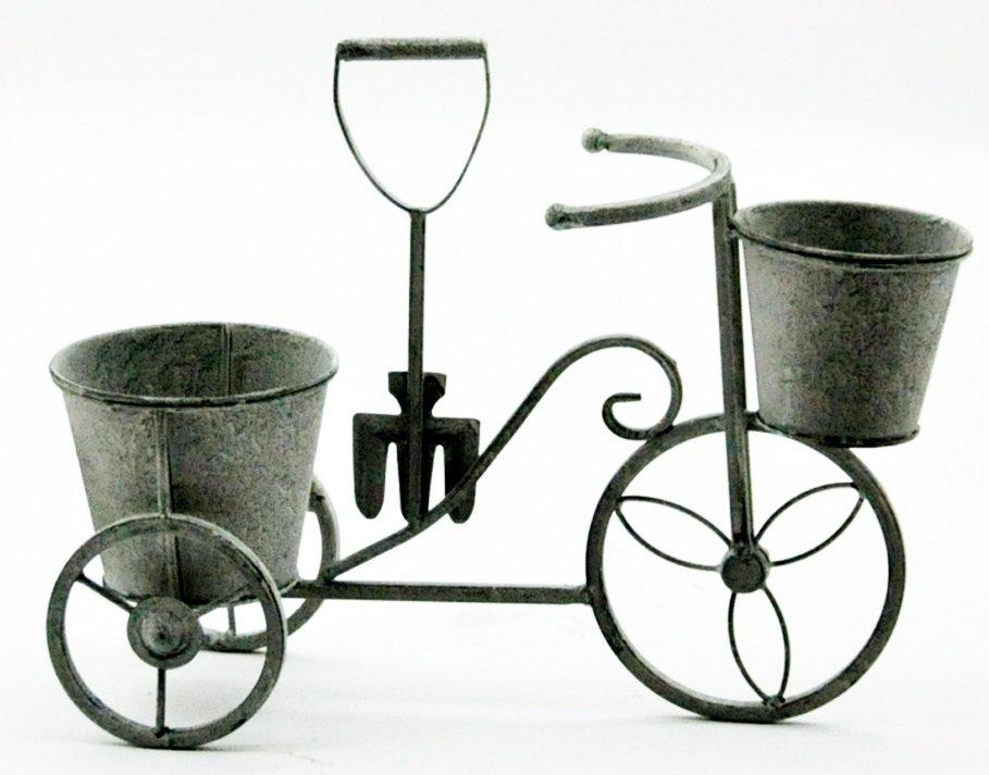 Lead Colour Bicycle Planter 40cm