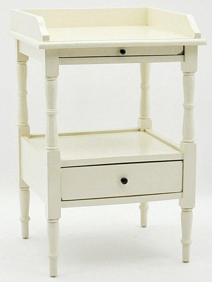 French Ivory Mahogany Side Table 74x50x44