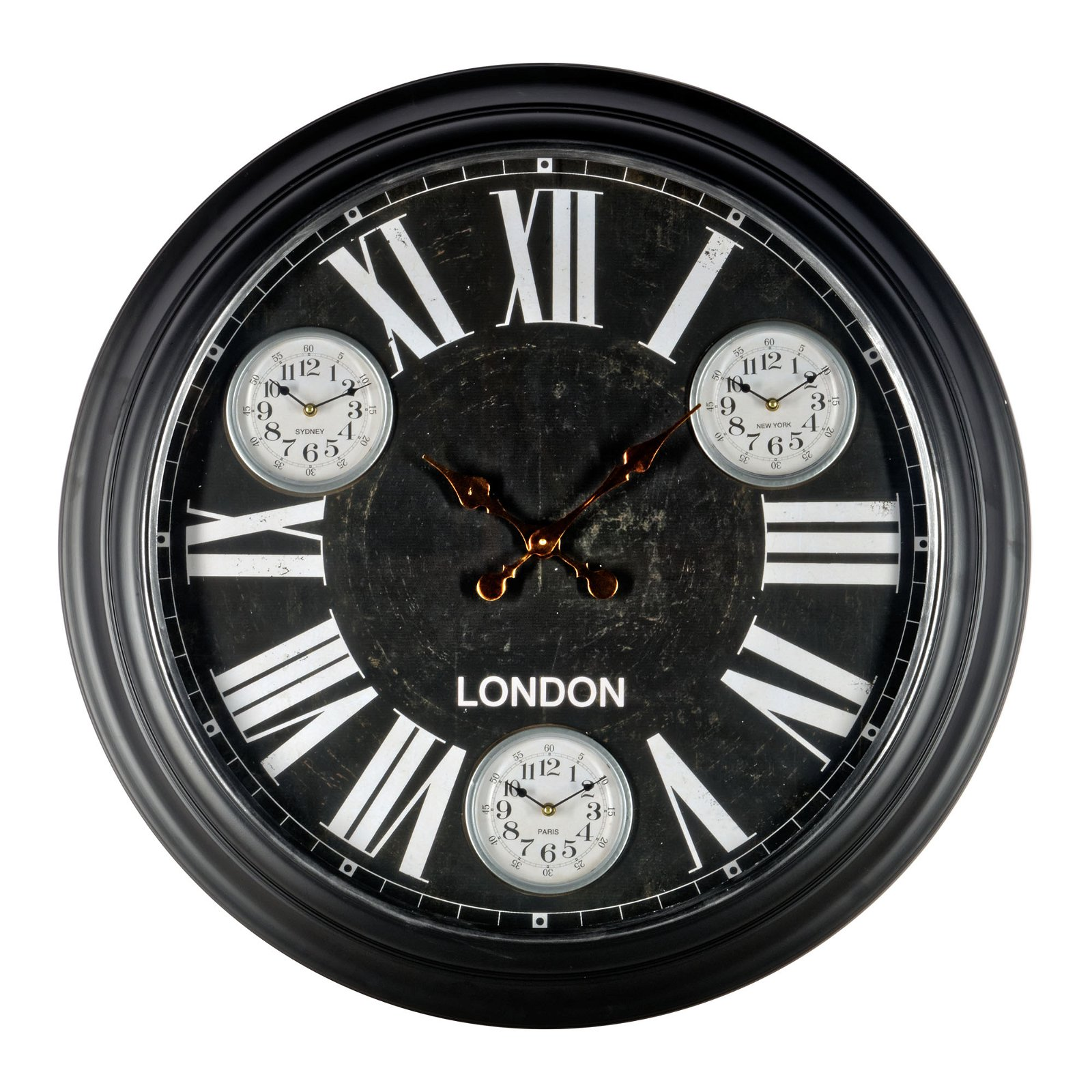 Black Metal Wall Clock 97cm
