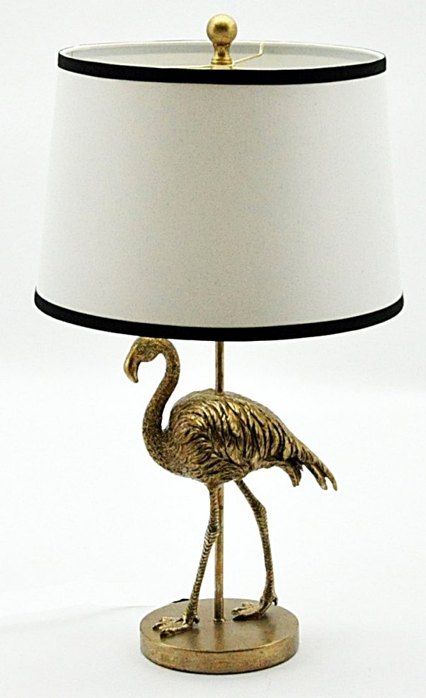 Golden Flamingo Table Lamp And Shade 68cm