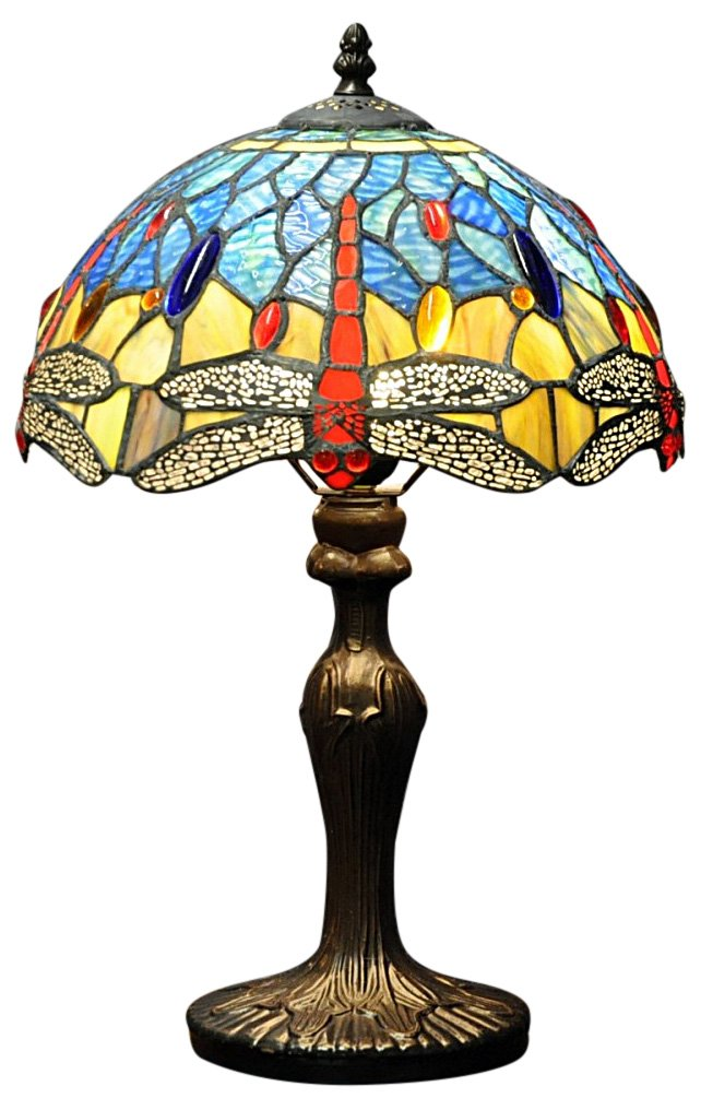 Blue Dragonfly Tiffany Lamp 12