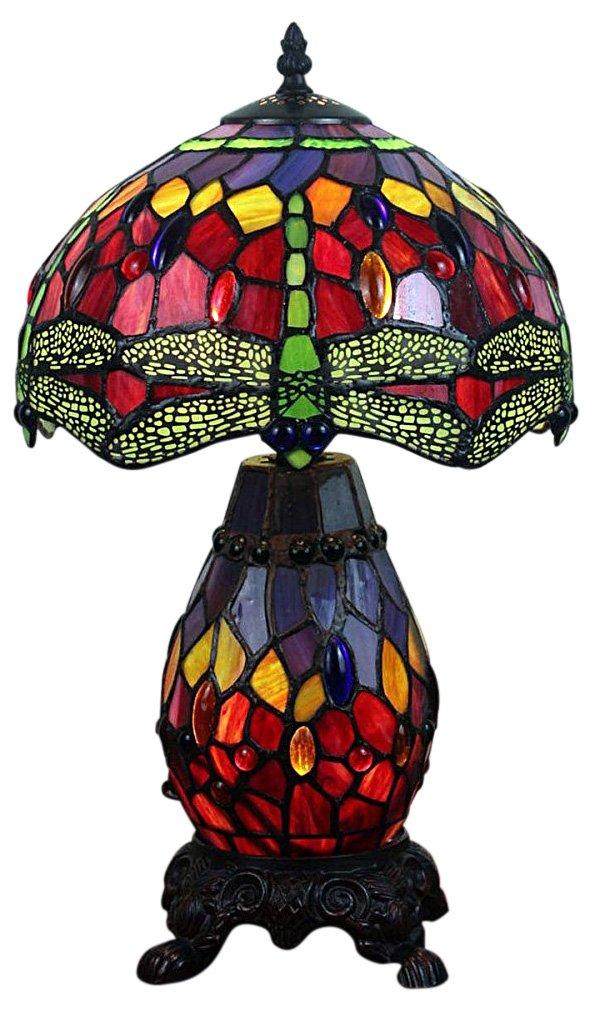 Double Light Dragonfly Tiffany Lamp 47cm