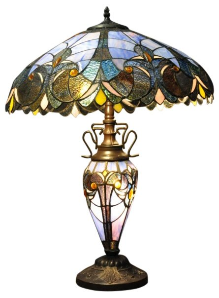 Blue Double Tiffany Lamp 68cm
