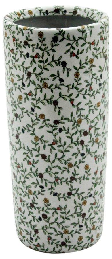 "Floral Pattern Ceramic Umbrella Stand 18"""