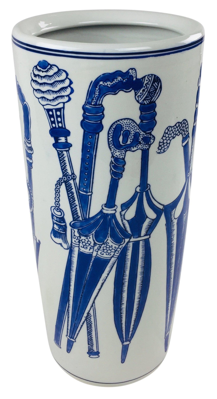 Blue Umbrella Design Umbrella Stand 46cm