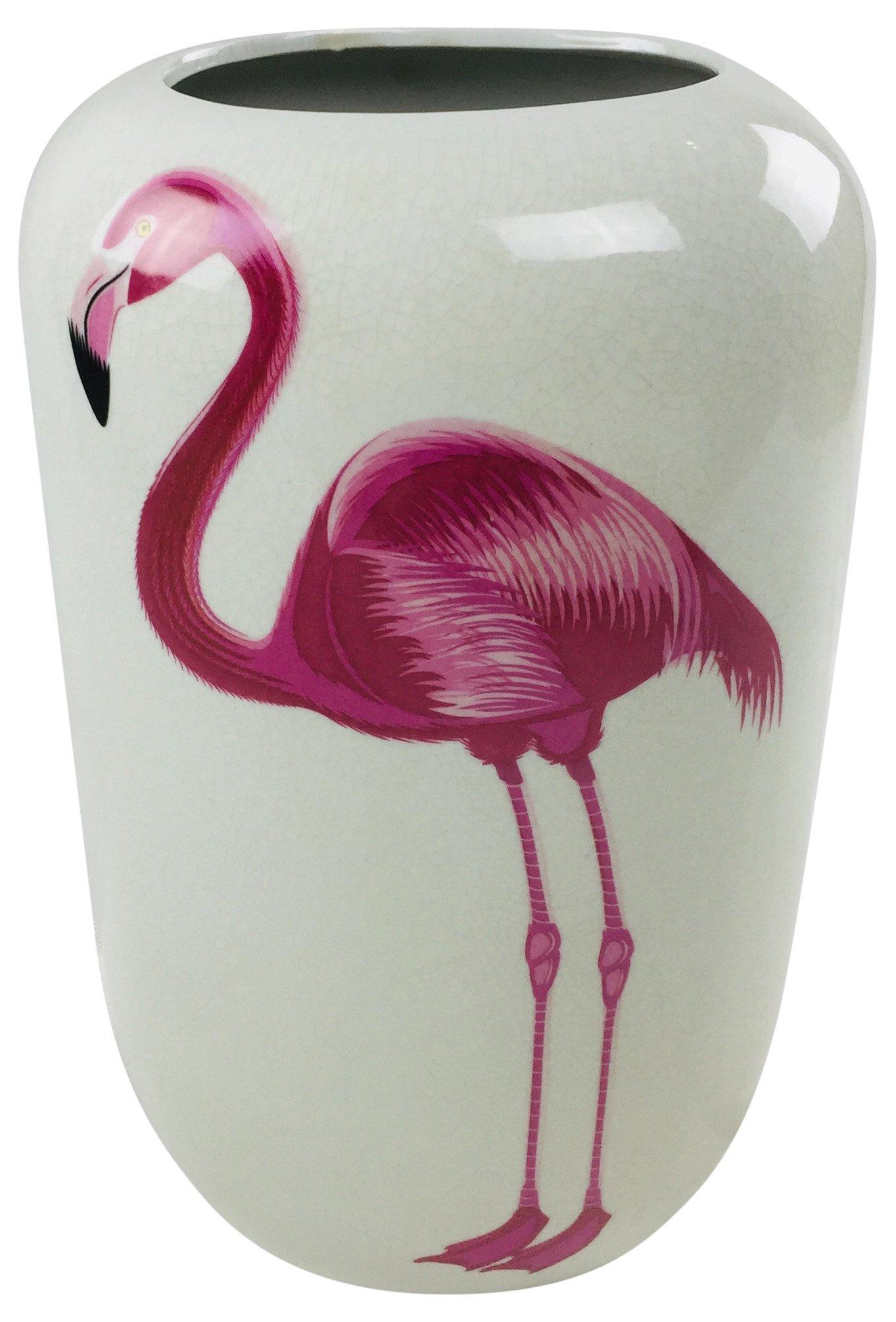 """Ceramic Flamingo Vase 14"""""""