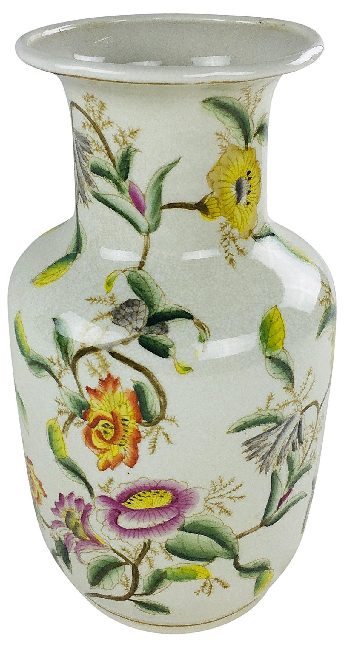 Ceramic Hedgerow Flowers Vase 33cm