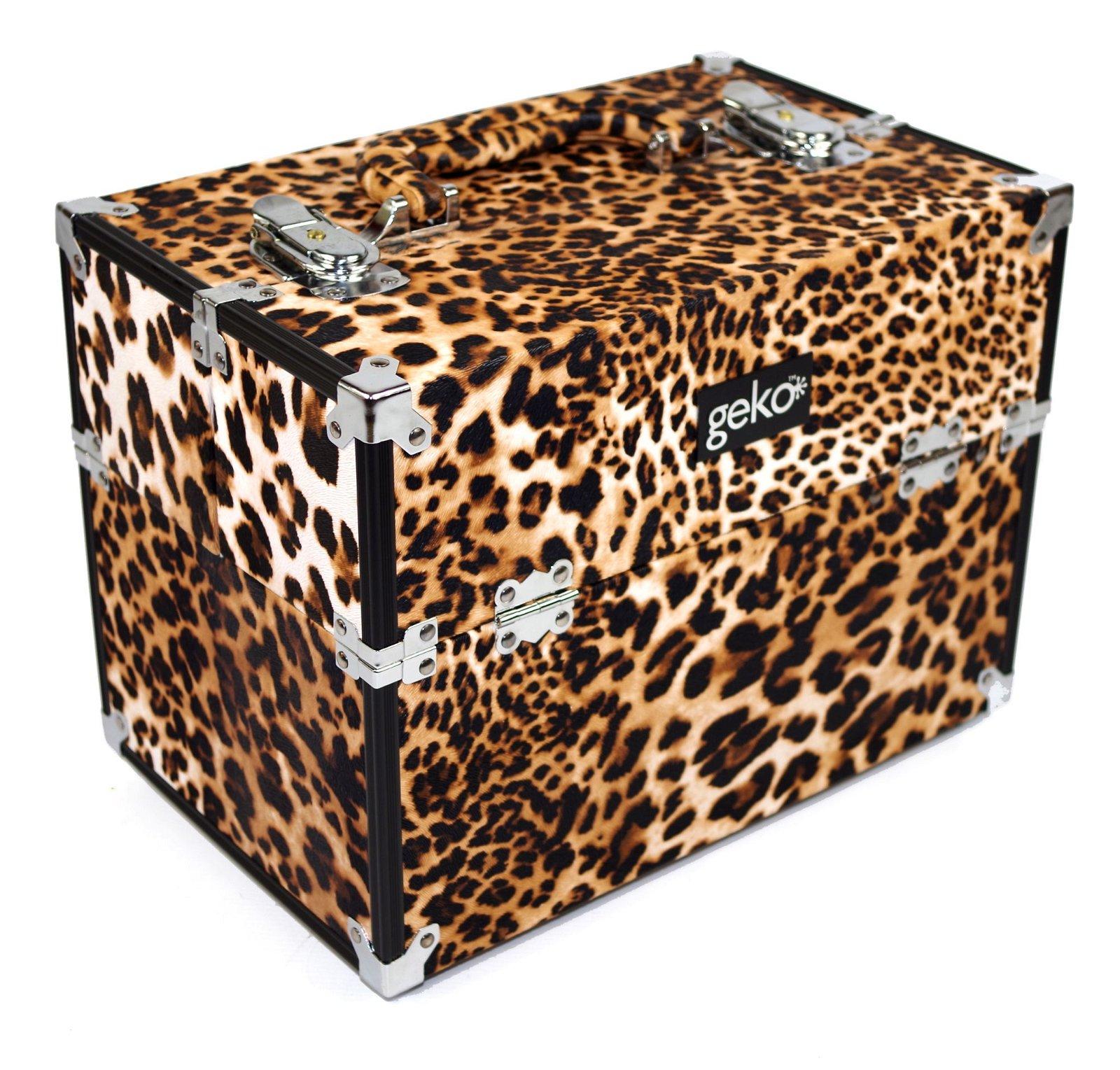 Vanity Case / Makeup Box Leopard Print