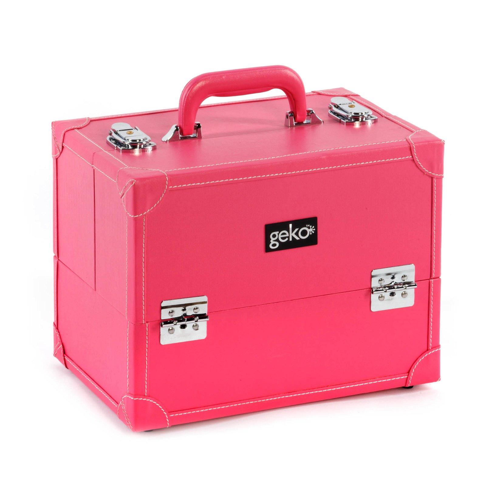 Vanity Case / Makeup Box Box Pink Faux Leather