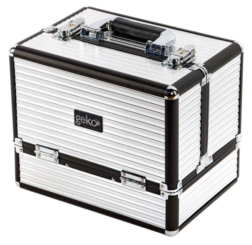 Vanity Case / Makeup Box Box Black & Silver