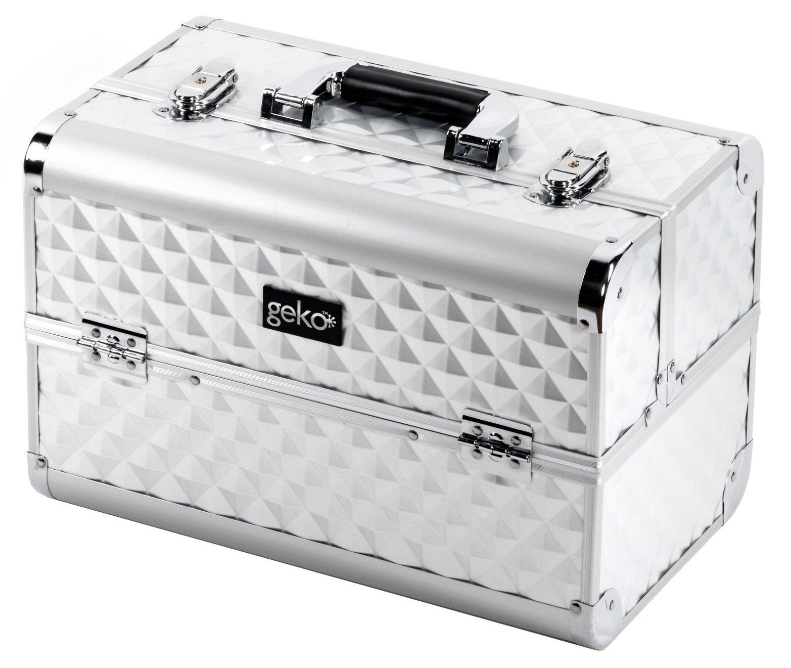 Vanity Case / Makeup Box Heavy Duty Silver