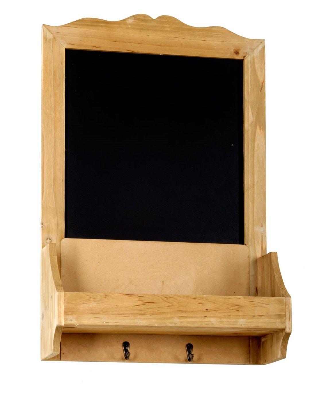 Chalk Board with Hooks & Shelf  37 x 13 x 58 cm