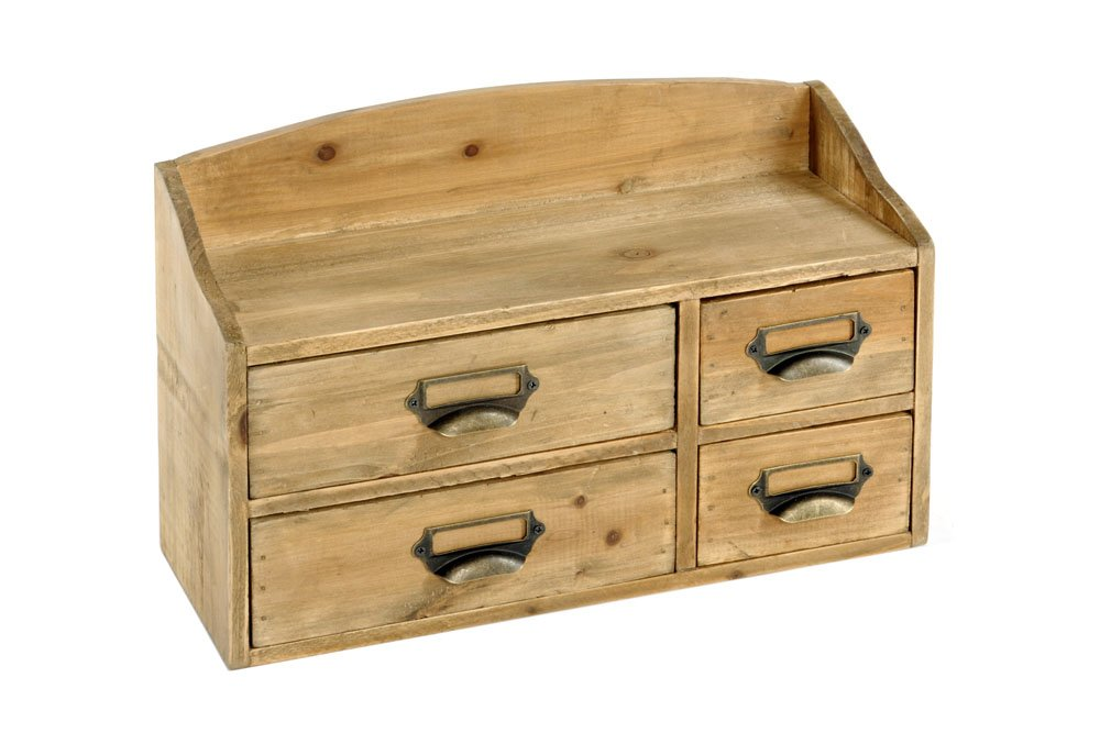 Shabby Chic Small Wooden Cabinet 4 Drawers